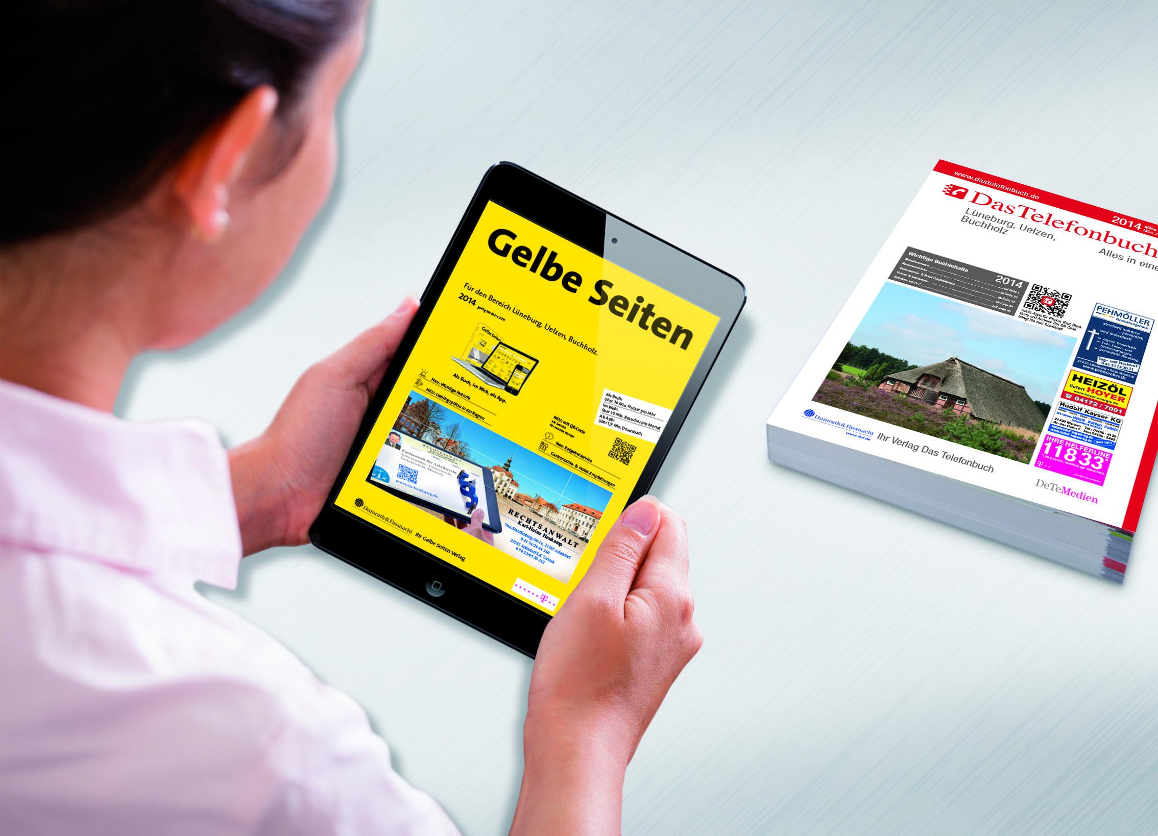 Neu für Lüneburg, Uelzen und Buchholz: Gelbe Seiten und Das Telefonbuch