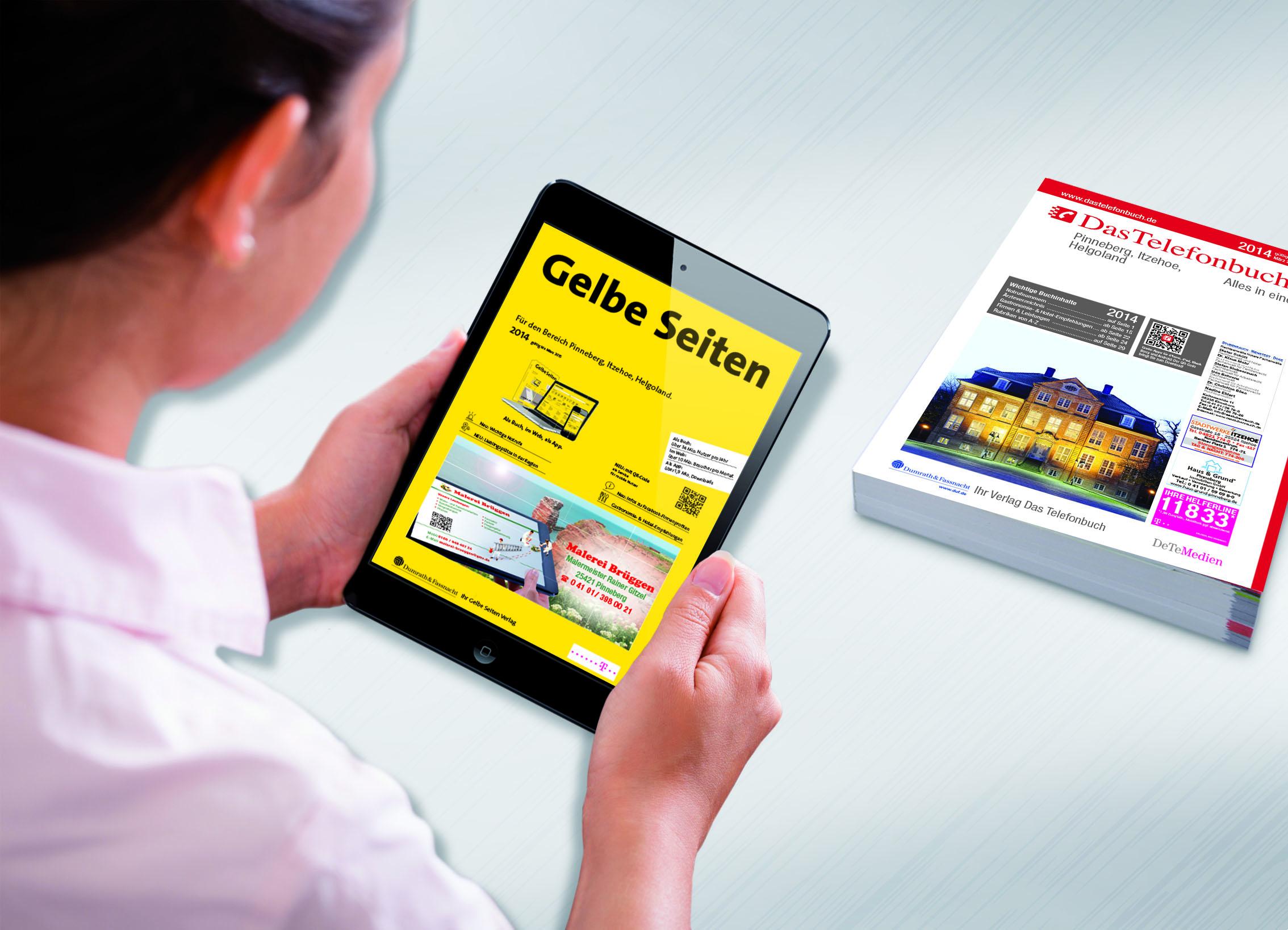 Gelbe Seiten und Das Telefonbuch für Pinneberg, Itzehoe und Helgoland