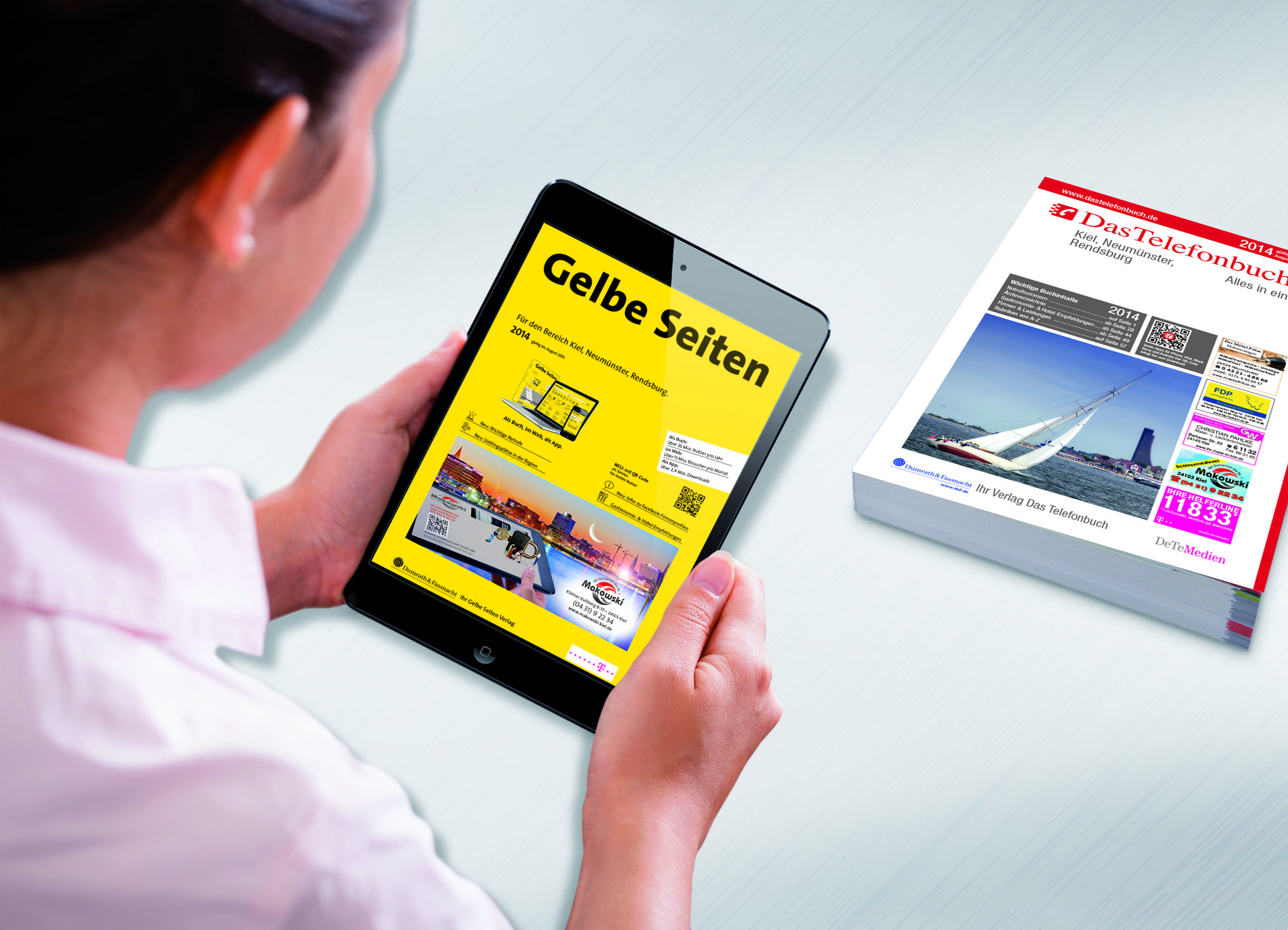 Gelbe Seiten und Das Telefonbuch für Kiel, Neumünster und Rendsburg jetzt neu mit vielen Extras