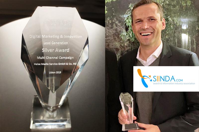 Heise RegioConcept mit SIINDA Award ausgezeichnet