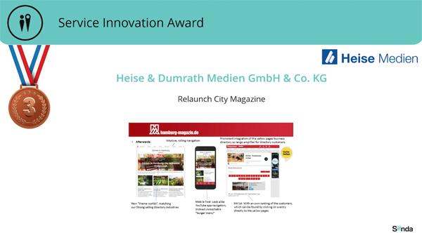 Zwei SIINDA-Awards für Heise & Dumrath Medien